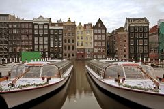 Amsterdam city  in the Netherlands Stock Photos