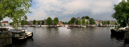 Amsterdam city panoramic view. Stock Images