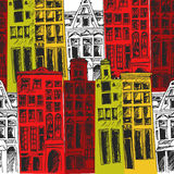 Amsterdam city pattern. Stock Photography
