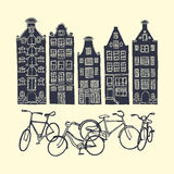 Amsterdam city poster Royalty Free Stock Image