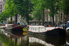 Amsterdam city scene Royalty Free Stock Photo