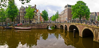 Amsterdam city scene Royalty Free Stock Photo