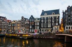 Amsterdam city scene Stock Photos