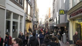 Amsterdam city street stock footage