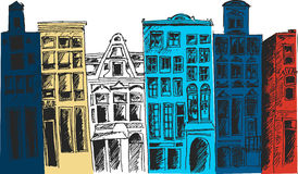 Amsterdam city.Vector illustration Stock Photography