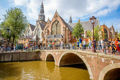 Amsterdam city view royalty free stock photography