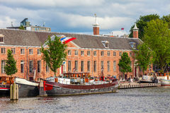 Amsterdam city view. Royalty Free Stock Images