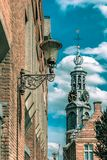 Amsterdam city view on the tower Munttoren royalty free stock photos