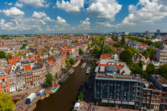 Amsterdam city view from Westerkerk, Holland, Netherlands. Stock Images