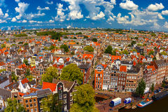 Amsterdam city view from Westerkerk, Holland, Netherlands. Stock Photos