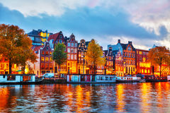 Free Amsterdam City View With Amstel River Stock Photo - 81862480