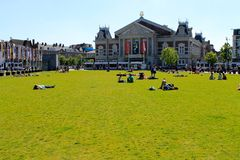 Amsterdam citycenter, Museumplein, The Netherlands Royalty Free Stock Photo
