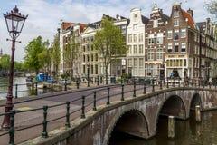 Amsterdam cityscape Arkivfoton