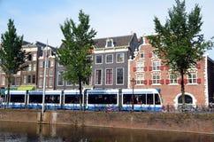 Amsterdam cityscape Royaltyfri Foto