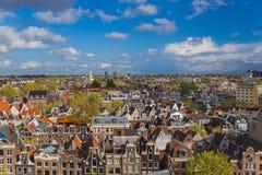 Amsterdam cityscape - Nederländerna Fotografering för Bildbyråer