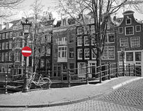 Amsterdam cityscape Royalty Free Stock Images