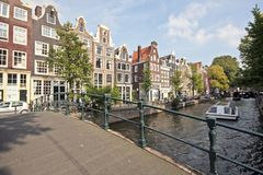 Amsterdam cityscenic in the Netherlands Royalty Free Stock Photography