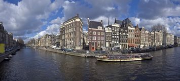 Amsterdam cityview in the Netherlands Stock Photo