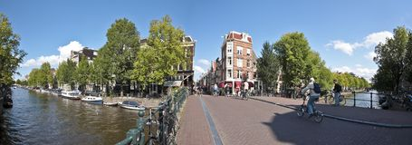 Amsterdam cityview in the Netherlands Royalty Free Stock Photo