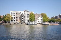 Amsterdam cityview in the Netherlands Royalty Free Stock Images