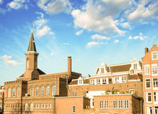 Amsterdam. Classic Buildings of Netherlands with beautiful sky Stock Images