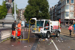Amsterdam cleaning department Royalty Free Stock Photos