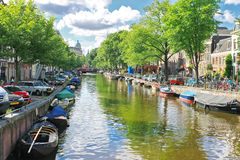 Amsterdam on a clear summer day. Stock Images