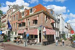 Amsterdam on a clear summer day. Royalty Free Stock Photo