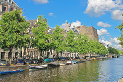 Amsterdam on a clear summer day. Royalty Free Stock Images