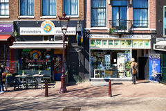 Amsterdam coffee shop showcase, Netherlands Royalty Free Stock Images