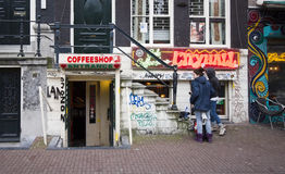 Amsterdam Coffeeshop Royalty Free Stock Photos