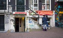 Amsterdam Coffeeshop royalty free stock photos