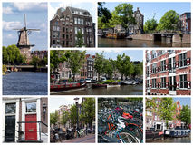 amsterdam collage Royaltyfria Foton