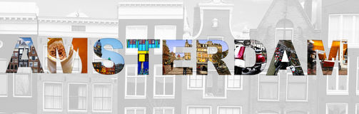 Amsterdam concept Royalty Free Stock Photos