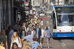 Amsterdam Crowd Stock Image