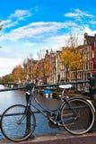 amsterdam cykel Royaltyfri Fotografi