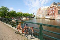 amsterdam cykel Royaltyfri Bild
