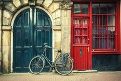 amsterdam cykel Arkivfoton