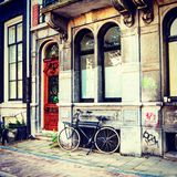 amsterdam cykel Arkivfoto