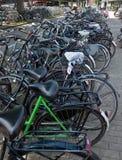 Amsterdam - cyklar Arkivfoton