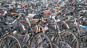 Amsterdam cyklar Fotografering för Bildbyråer