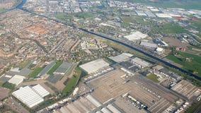 Amsterdam dalla finestra piana Vibrazione nella cabina di pilotaggio e nella macchina fotografica che scuote stock footage