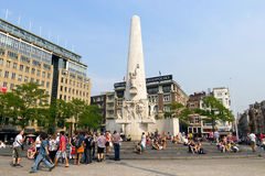 Amsterdam Dam square Stock Photos