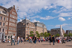 Amsterdam Dam Square Royalty Free Stock Images