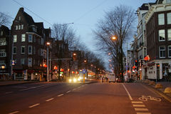 Amsterdam at dawn Stock Photos