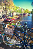 Amsterdam in de lente Stock Fotografie