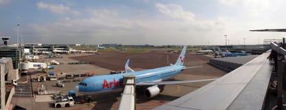 Aeropuerto de Schiphol en el trabajo. Ciudad de Amsterdam. 10 de septiembre de 2012 Fotografía de archivo