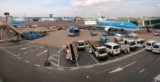 Aeropuerto de Schiphol en el trabajo. Ciudad de Amsterdam. 10 de septiembre de 2012 Imágenes de archivo libres de regalías