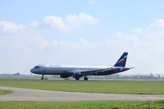 Amsterdam die Niederlande - 2. April 2017: VP-BUM Aeroflot Airbus A321 Stockbild
