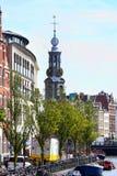 AMSTERDAM, DIE NIEDERLANDE - 19. AUGUST 2015: Ansicht über Bloemenmar Lizenzfreies Stockfoto